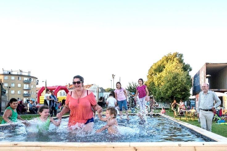 Burgers presenteren 'Badeau', een openluchtbad langs kanaal   BRUZZ