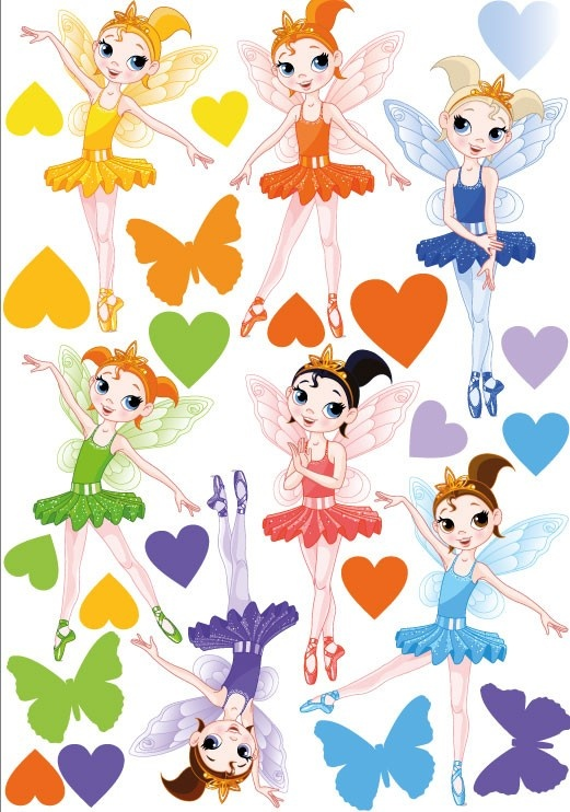 Ballerina Fairies MOVABLE Wall Stickers, $8.95 (http://www.wholesaleprinters.com.au/ballerina-fairies-wall-stickers)