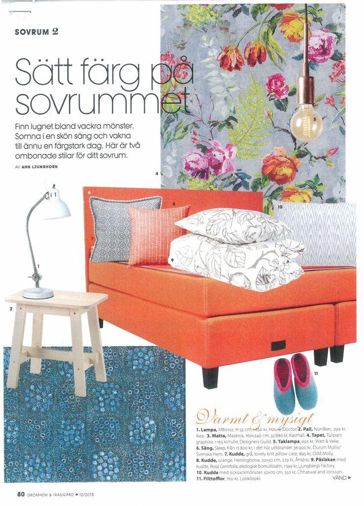Odd Molly jacquard pillows in Drömhem & Trädgård Magazine Sweden 2015