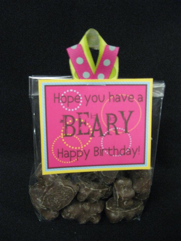 Beary Happy.  I think I might use gummy bears.  #birthday  #bear  #gift