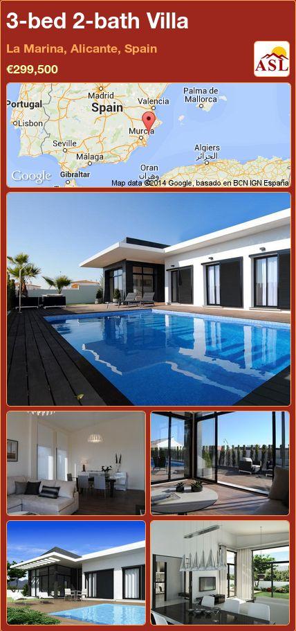 3-bed 2-bath Villa in La Marina, Alicante, Spain ►€299,500 #PropertyForSaleInSpain