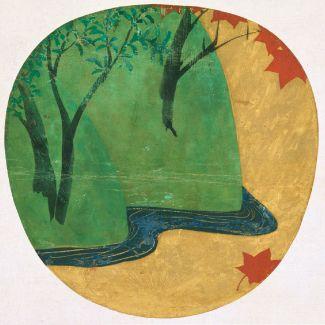 紅葉流水図(竜田川図) 尾形光琳筆