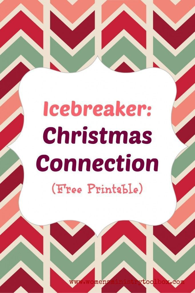 Icebreaker Christmas Connection With Free Printable Fun Game Perfect For Christmas Party Games For Groups Funny Christmas Party Games School Christmas Party