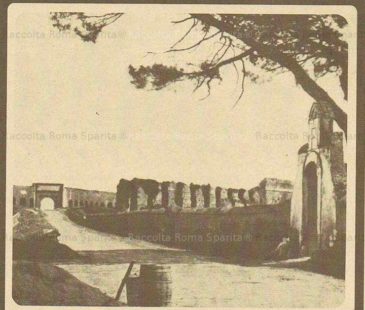 Porta Furba . Via Tuscolana Anno: 1870