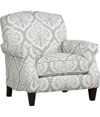 If you're uneasy about adding some pattern to your space, try this #havertys Margo Accent Chair.  The soft colorway makes the #ikat pattern #elegant and not overwhelming.