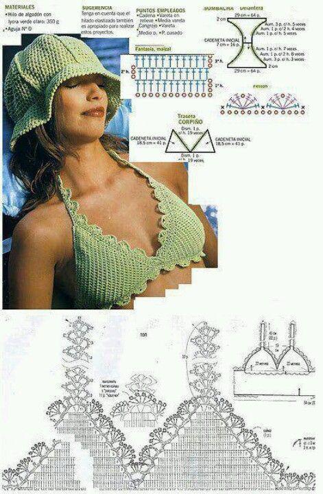 bikini pattern ♪ ♪ ... #inspiration #crochet #knit #diy GB http://www.pinterest.com/gigibrazil/boards/