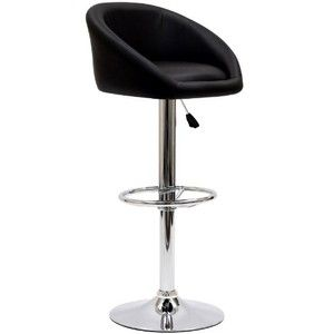 LexMod Marshmallow Bar Stool in Black