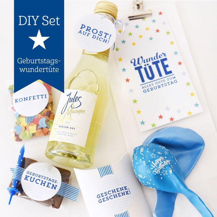 DIY-Set für eine Geburtstags-Wundertüte I Geldgeschenk kreativ verpacken I Casa di Falcone