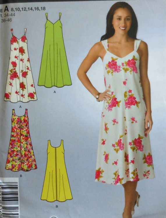 Dress Sewing Pattern  Sizes 8-18  UNCUT    Simplicity 2649    Contains pattern for two variations of dress.    Envelope has some wear.    Buyer