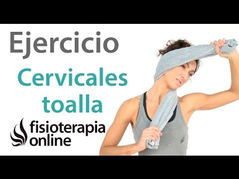 Ejercicio de movilización suave de cervicales con una toalla - YouTube