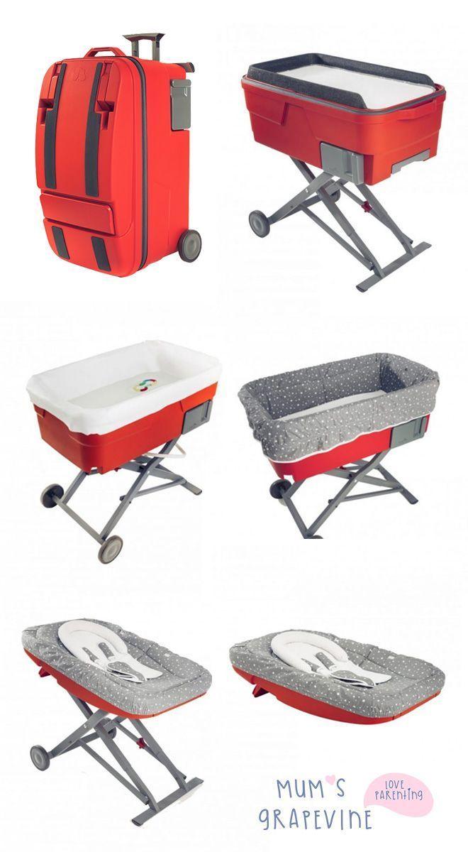 Koffer Verwandelt Sich In Babywiege Badewanne Wippe Sitz Cool Baby Stuff Baby Seat Baby Bassinet