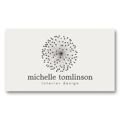 DANDELION STARBURST LOGO Customizable Business Card For Interior Designers