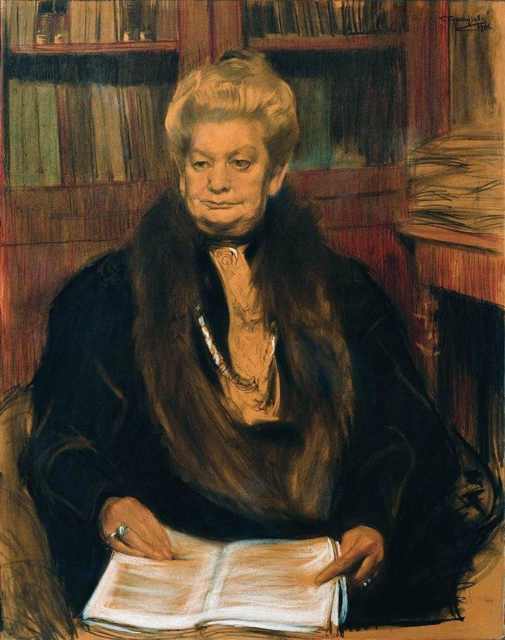 Boris Kustodiev (Russia, 1878 – 1927) Portrait of the writer Alexandra Vasilevny Schwartz, 1906