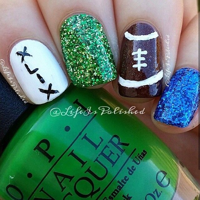Best 25+ Football nail art ideas on Pinterest