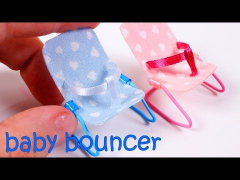 DIY Miniature Baby Bouncer - YouTube