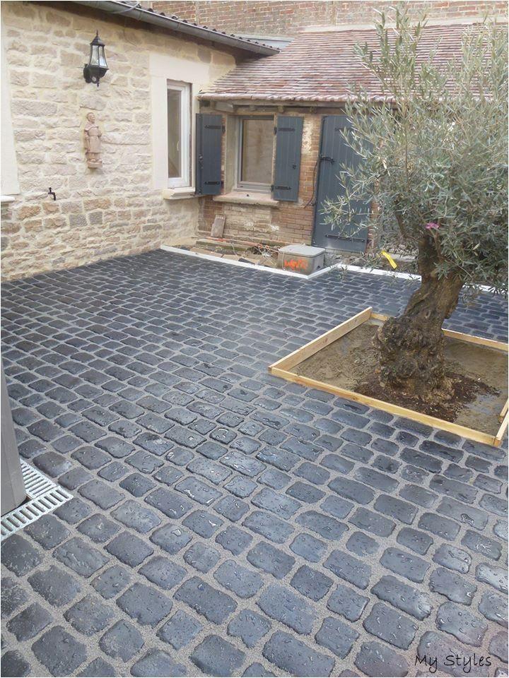 Paved Stones And Stone Garten Landschaftsbau Vorgarten Steinterrassen Vorgarten Garten Und Outdoor