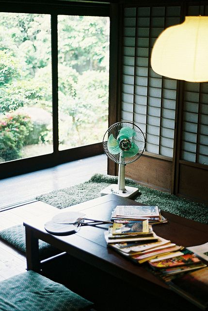 A lot of quality work could get done in a spaces as perfectly laid out as this.  Nara 奈良 by porkchopsandy, via Flickr