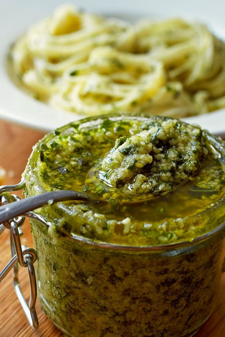 Pesto is the most rustic of the new mother sauces. The key to making creamy pesto is to add the ingredients to the food processor in the right order to ensure that the nuts break down to a fine paste before the greens have a chance to turn brown. (Photo: Jessica Emily Marx for The New York Times)