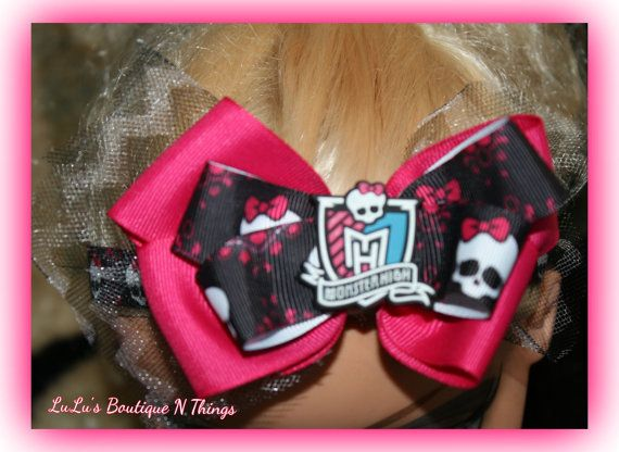 Monster High Elastic Headband inspired by LuLusBoutiqueNthings, $8.00