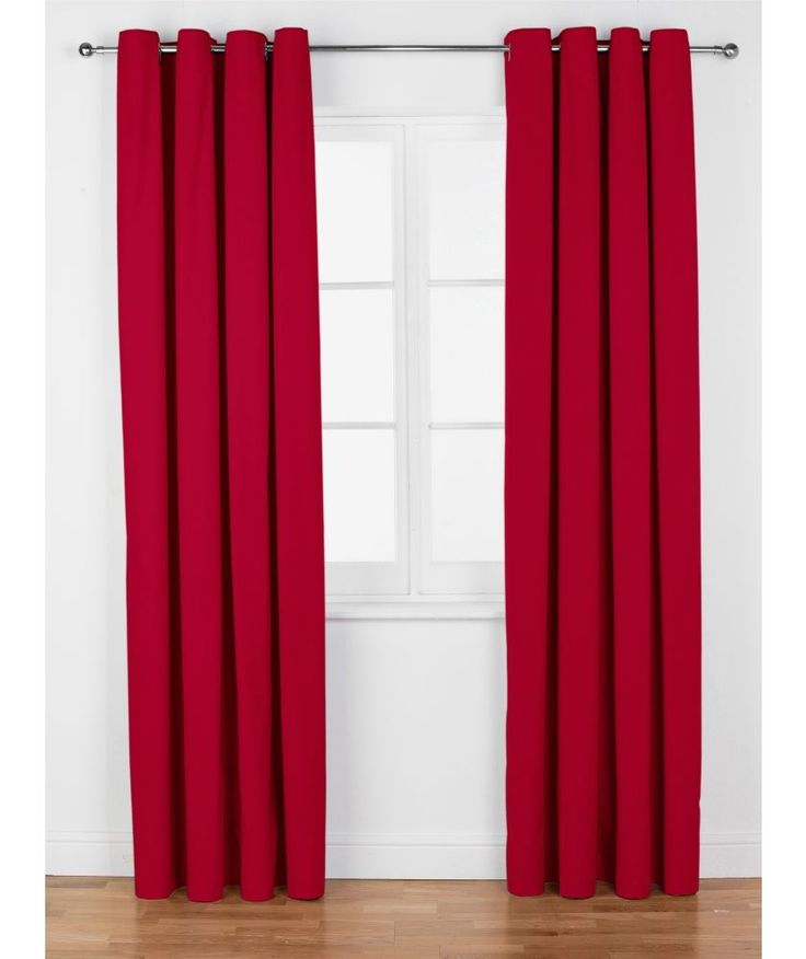 Buy Colourmatch Lima Eyelet Curtains 117x137cm Poppy