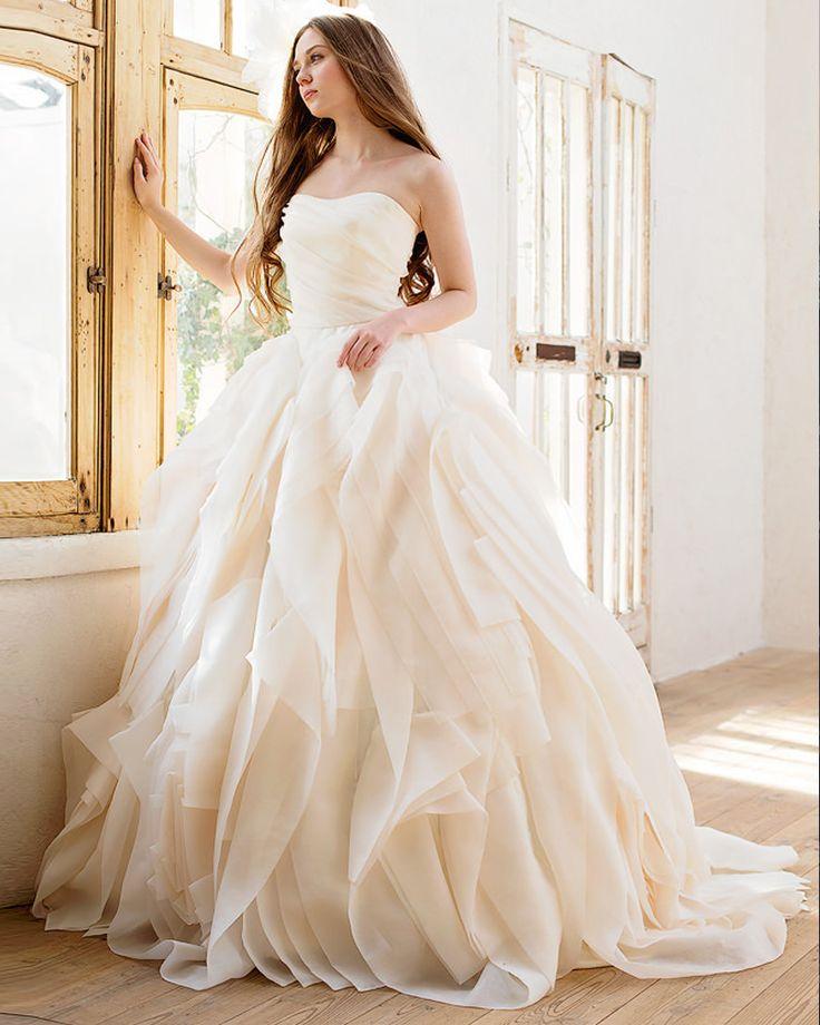 2016 Chegada Nova Exquisite Camadas Drapeado E Light Pink vestido de Baile Robe De Soirée Sexy Real Photo Vestido De Noiva Zip Up Plus tamanho em Vestidos de casamento de Casamentos & Eventos no AliExpress.com | Alibaba Group