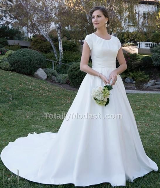 Simple Elegant Modest Lace Wedding Dress With Scallop Lace: 17 Best Images About Totally Modest Dresses With Sleeves