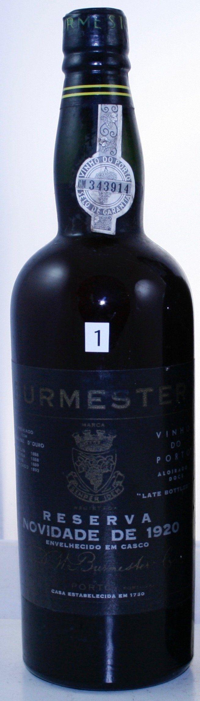 395,- Euro Burmester Novidade Reserva Port ahrgang:1920 Land:Portugal Region:Porto Produzent:J.W. Burmester Typ:weiß Alkoholgehalt:20% Füllhöhe:TS - top-shoulder Etikett:Good Labels