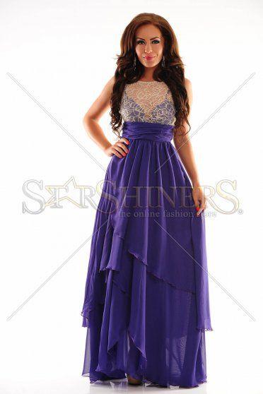 Royal Crossing Purple Dress