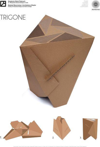 48 besten papierhocker bilder auf pinterest karton for Karton design