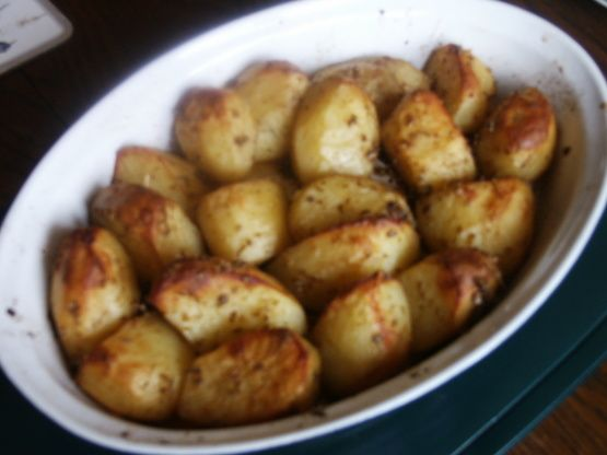 I searched and searched for a recipe to make Parisienne or Portuguese potatoes. Nothing came up, so I put this together. Cook time includes marinating.