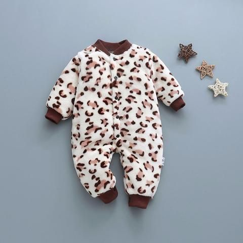 988470ef2fe8 fashion baby boys romper soft flannel toddler girls jumpsuit long sleeve  cotton warm infant clothes winter dot newborn romper