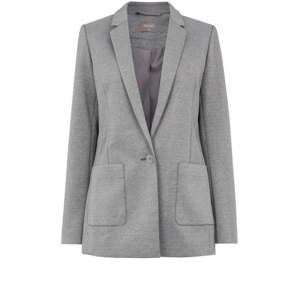 Oasis Boyfriend Blazer ($60) ❤ liked on Polyvore featuring outerwear, jackets, blazers, women coats & jackets, boyfriend jacket, oasis jackets, blazer jacket, boyfriend blazer and fleece-lined jackets