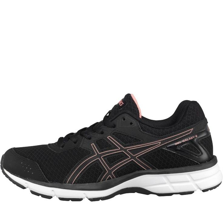 Asics Womens Gel Galaxy 9 Neutral Running Shoes Black/Peach Melba/Black