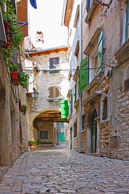 streets of the small town Rovinj, Croatia