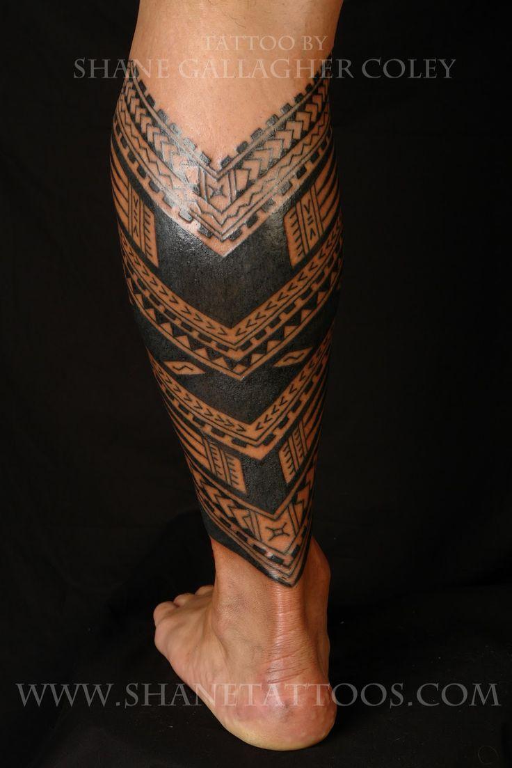 Samoan Tattoo Designs | Samoan Calf Tattoo | TATTOOS ...