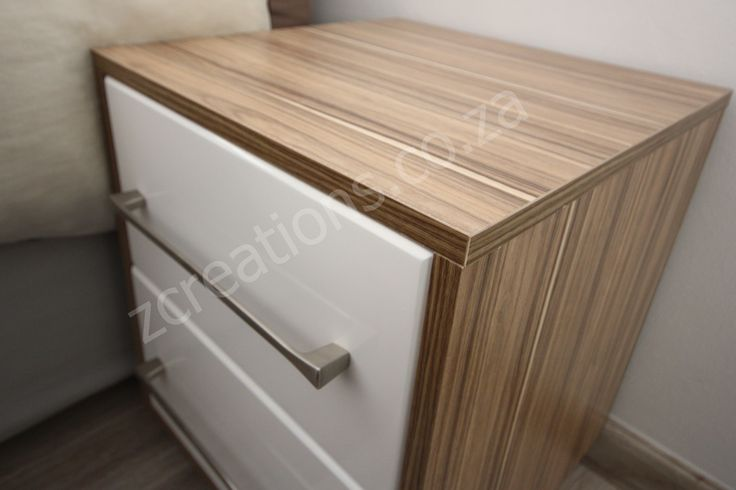indian ebony and gloss drawers pedestal