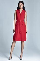 Sukienka Szmizjerka - czerwony