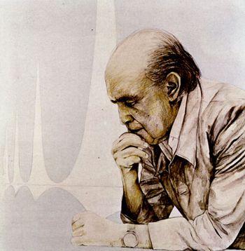 """""""A vida é importante; a Arquitetura não é. Até é bom saber das coisas da cultura, da pintura, da arte. Mas não é essencial. Essencial é o bom comportamento do homem diante da vida"""". Oscar Niemeyer"""