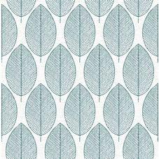 Fresco New Leaf White/Teal Wallpaper