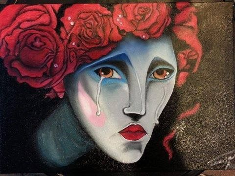 Cry baby cry baby Oil on canvas 30x 35cm