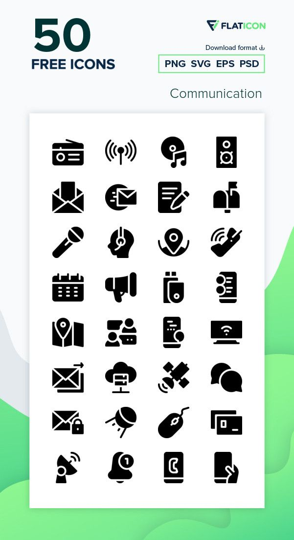 50 Free Vector Icons Of Communication Designed By Freepik Communication Icon Vector Free School Icon