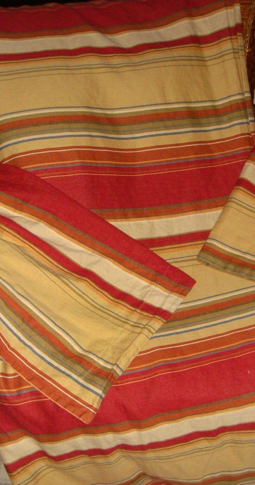 Pottery Barn Twin Size Serape Stripe Duvet Cover Set With Euro & Standard Shams #PotteryBarn #Contemporary