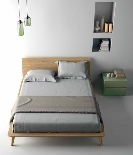 Double bed / contemporary / with headboard / oak EASY Dall'Agnese Industria Mobili