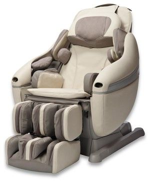 Inada Sogno DreamWave Massage Chair, Creme contemporary chairs (I so want one!!!!)