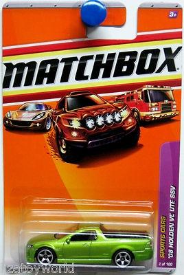 A green ute : )    2008 Holden VE UTE SSV Matchbox 2011 Sports Cars #2/100 green
