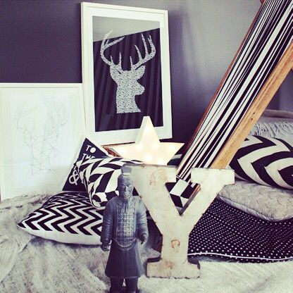 Two of our moose prints in this lovely styled set up, from www.yorkelee.com.au