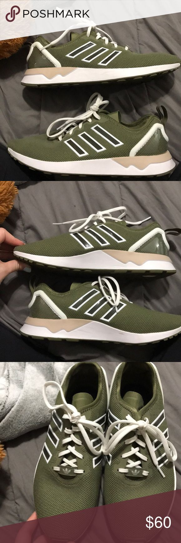Adidas flux custom Really nice shoe too big for me never before worn. adidas Shoes Sneakers