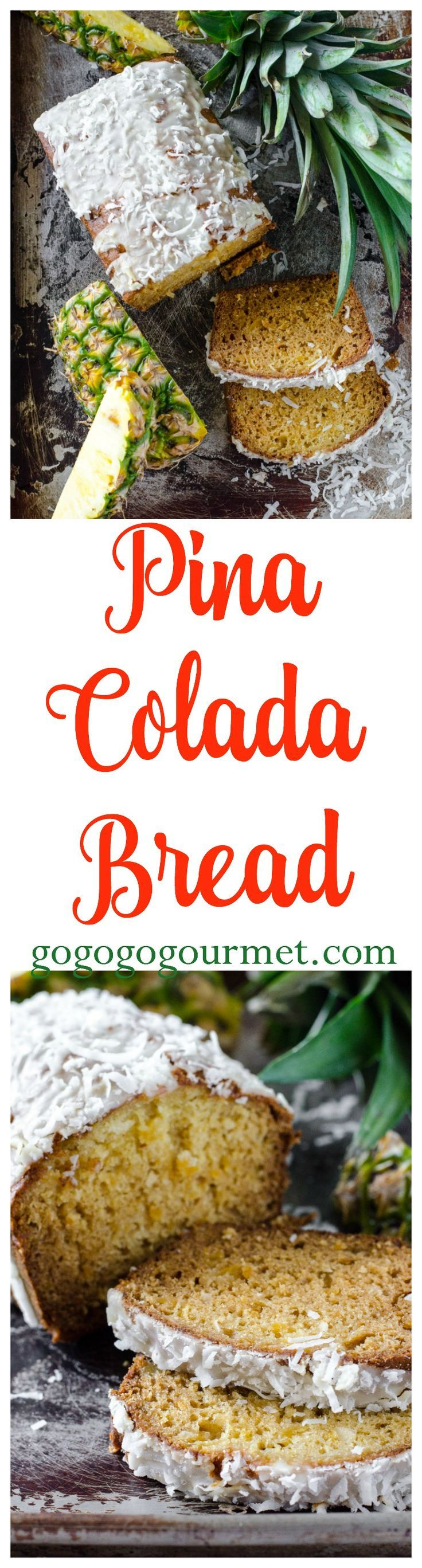 With its flavors of pineapple and coconut, this Pina Colada bread will take you to the tropics with every slice! | Go Go Go Gourmet @Go Go Go Gourmet