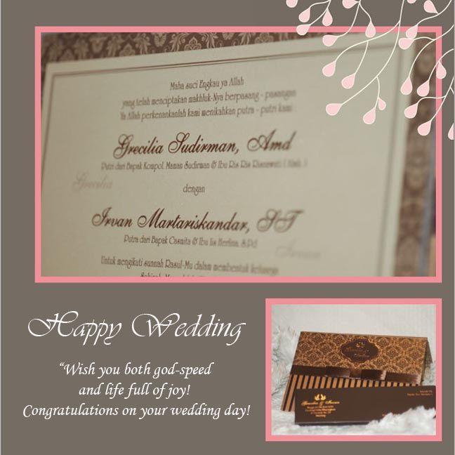 Happy Wedding for Wonderfull Couple ❣  ❦ Grecilia Sudirman, Amd & Irvan Martariskandar, ST ❦   ~06 Oktober 2014~  Info & Pemesanan Kartu Undangan Hub : 022-5223378/70706073 Jl. Pasirluyu Timur No. 155-157 Bandung... Cetak Cepat & Rapi, Harga Murah bs disesuaikan dgn budget, Desain dpt dirubah sesuai keinginan..  #kartu #undangan #pernikahan #samarista #wedding #invitation #card #hard #soft #cover #perkawinan #best #seller #cetak #cepat #murah #jasa #pesan #acara #khitanan #brosur #souvenir