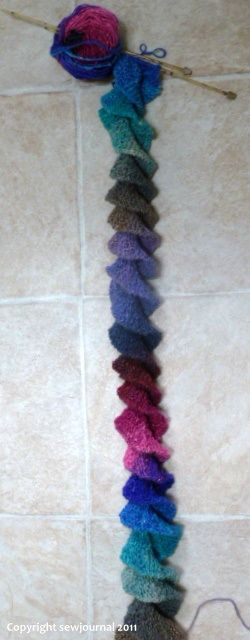 Spiral Scarf Knitting & Crochet Patterns @D Aïna Champoux Busenbark I am expecting one of these for me ;)